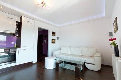 Moderne Wohnung Mit Küche Und Wohnzimmer