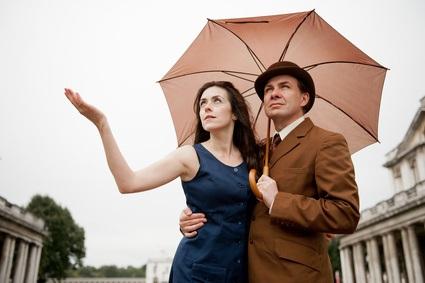 Paar in britischer Mode