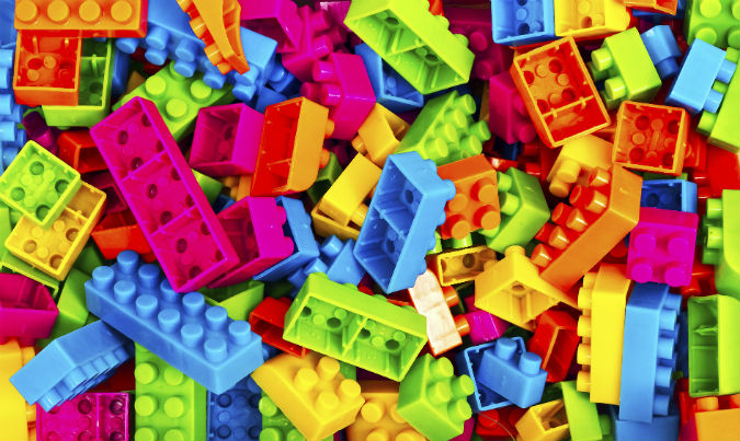 Bunte Legosteine
