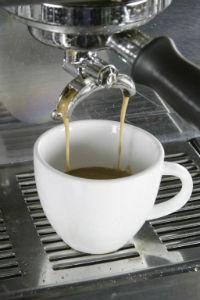 Espresso Maschine und Tasse