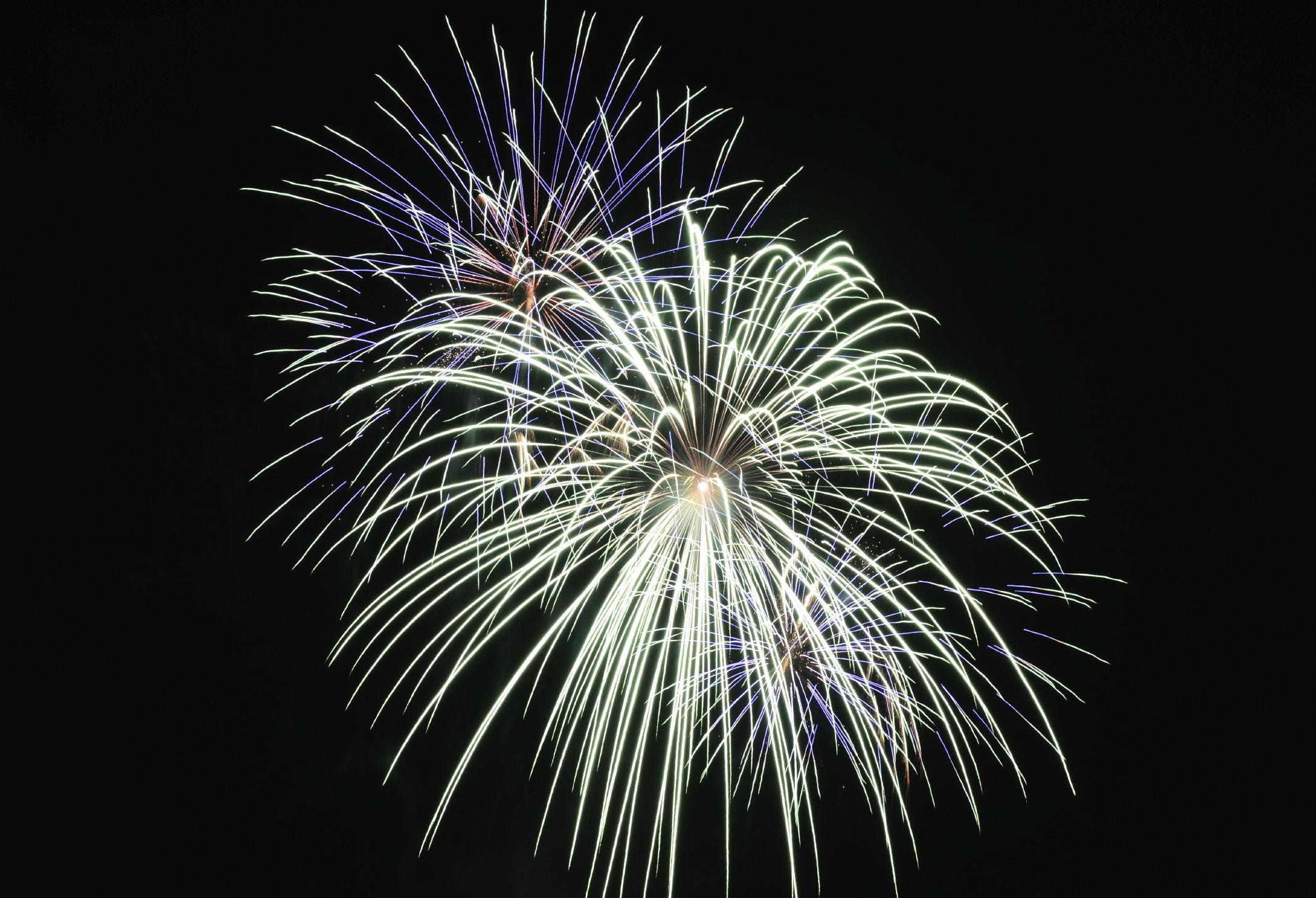 Feuerwerk im Freien