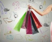 Frau im Shoppingrausch