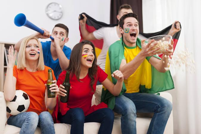WM am heimischen Fernseher schauen