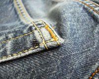 Maenner Jeans in Nahaufnahme