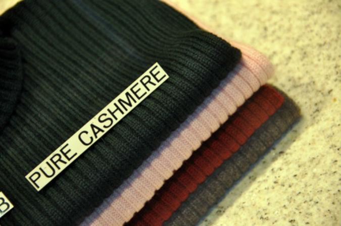Kleidung aus Kaschmirwolle