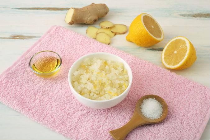 Zitrine, Ingwer und Peeling zur Körper-Reinigung