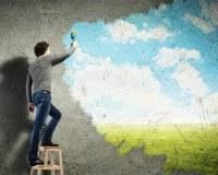 Schwammtechnik - Kreative Wandgestaltung