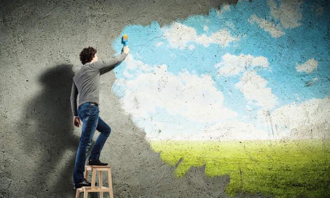 kreative Wandgestaltung