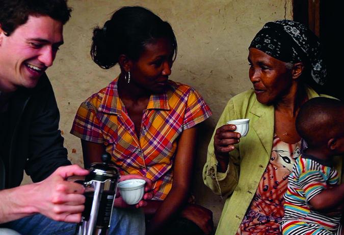 Kaffeezeremonie in Äthipien