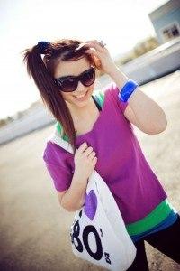 Kleidung in Neon Farben
