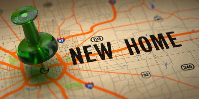 New Home auf Landkarte