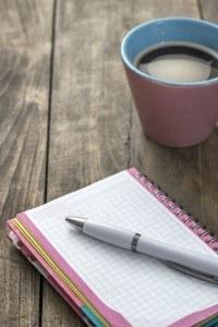 Notizblock für Autoren