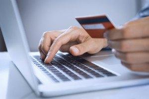 Online zahlen per Kreditkarte