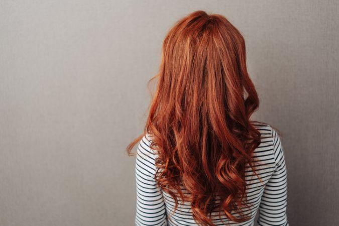 Rückenansicht rote Haare