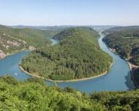 Die Saarschleife bei Mettlach ganz im Westen Deutschlands