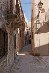Mediterrane Häuser auf Sizilien