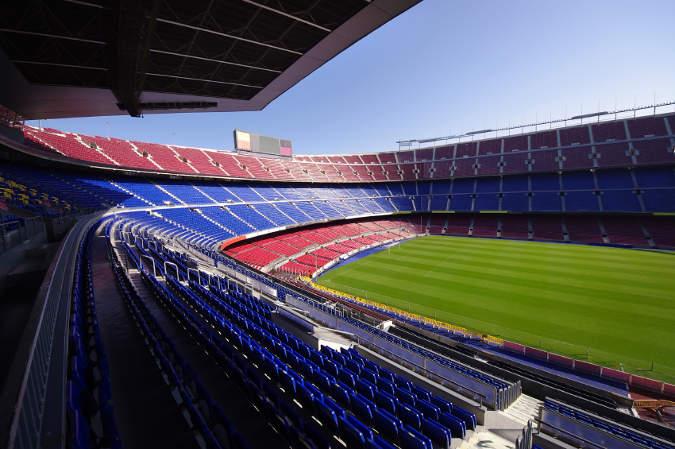 Stadion im dunkeln