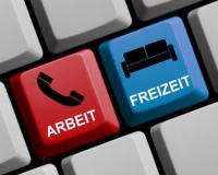 Tastatur mit Freizeit und Arbeitstaste