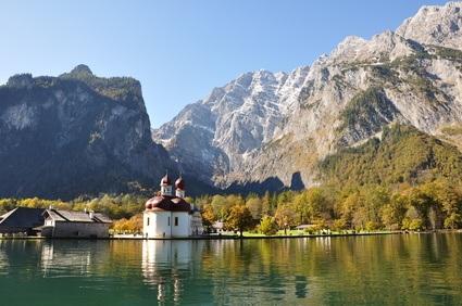 Wallfahrtsklirche am Königsseen in der Nähe des Nationalparks Berchtesgaden