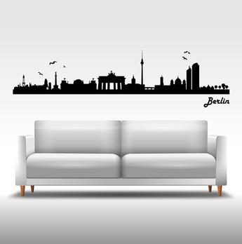 Wandtattoo Berliner über Sofa