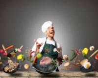 Koch, bei dem sich alles von alleine kocht