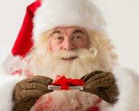 Weihnachtsmann mit Smartphone