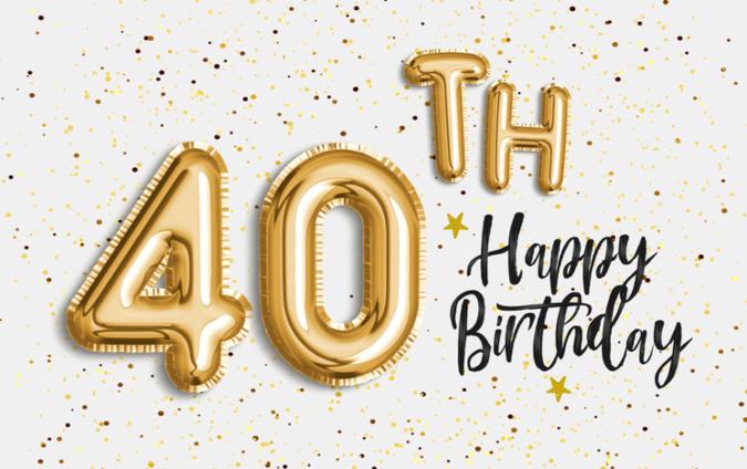 Vierzigster Geburtstag Luftballons