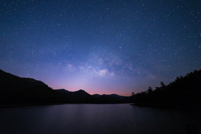Nachthimmel voller Sterne