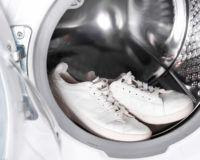 Sneaker in der Waschmaschine