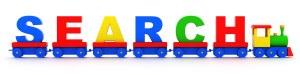 Google Letter auf Spielzeugeisenbahn