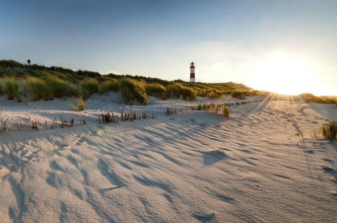 Meerblick Kampen ist berühmt für die langen Sandstrände
